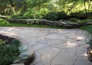 flagstone patio - 1