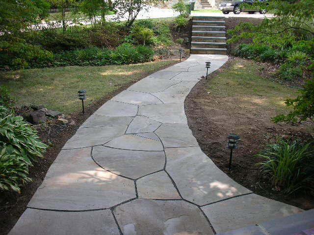 Natural Path Irregular Flagstone Walkway Adams