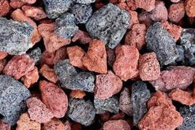 Red or Black Lava Stone